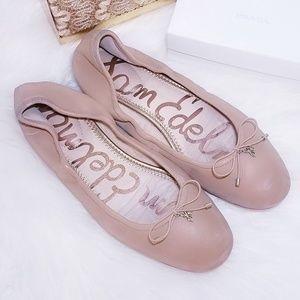 Sam Edelman Leather Nude Tan Ballet Flats 10
